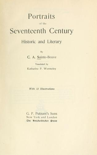 Download Portraits of the seventeenth century, historic and literary