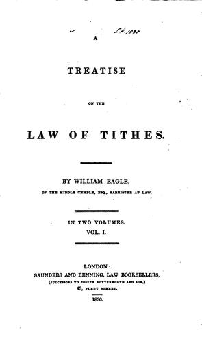 Download A treatise on the law of tithes