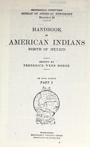 Download Handbook of American Indians, north of Mexico