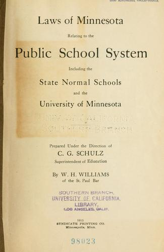 Download Laws of Minnesota relating to the public school system