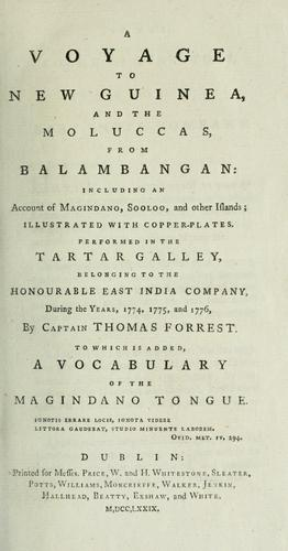 Download A voyage to New Guinea and the Moluccas, from Balambangan