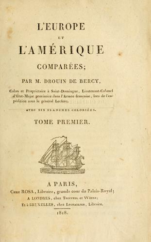 Download L' Europe et l'Amérique comparées