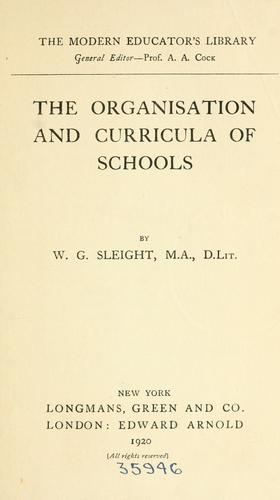 Download The organisation and curricula of schools.