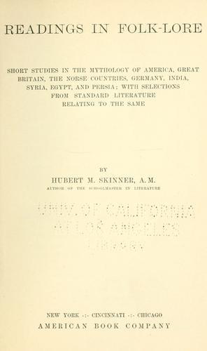Readings in folk-lore