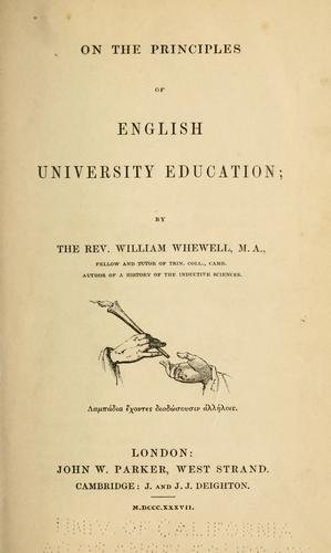 Download On the principles of English university education.
