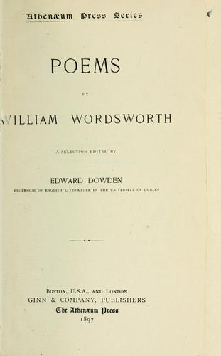 Download Poems by William Wordsworth