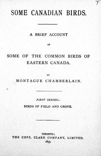 Download Some Canadian birds