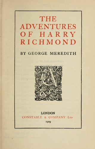 The adventures of Harry Richmond.