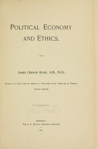 Political economy and ethics