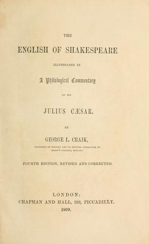 Download The English of Shakespeare illustrated in a philological commentary on his Julius Caesar