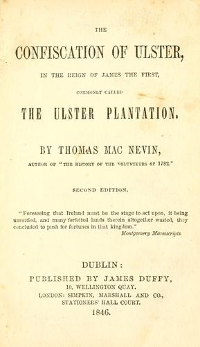 The confiscation of Ulster