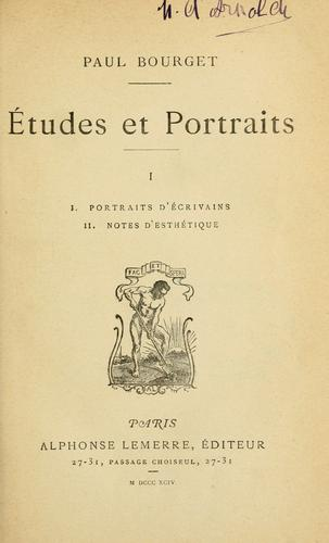 Download Études et portraits.