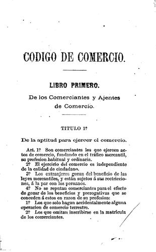 Download Código de comercio de la República del Perú.