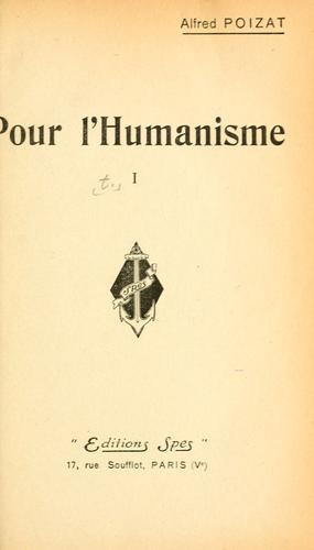 Download Pour l'humanisme.