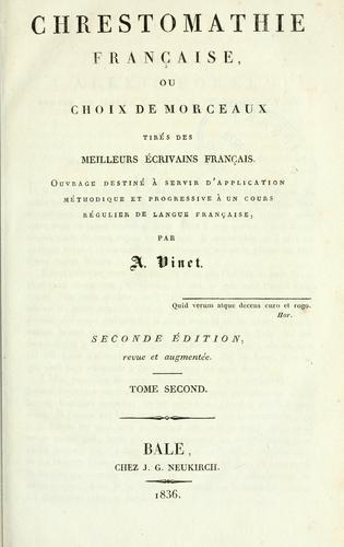 Chrestomathie française