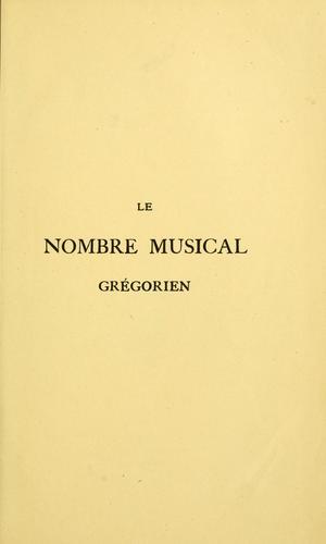 Download Le nombre musical grégorien