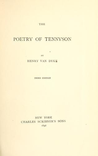 The poetry of Tennyson.