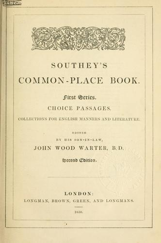 Common-place book.