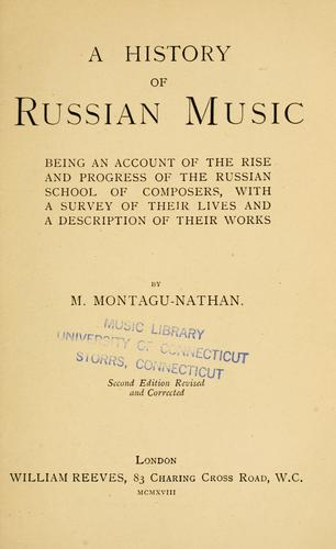 Download A history of Russian music