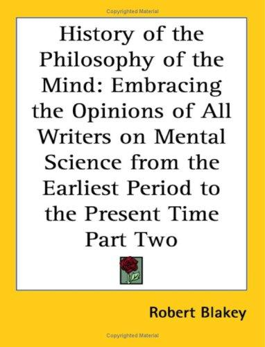 Download History of the Philosophy of the Mind