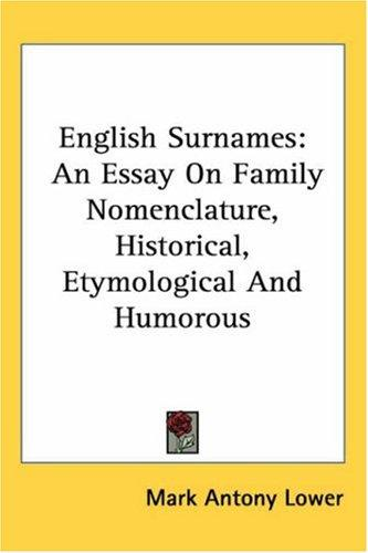 Download English Surnames