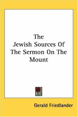 Download The Jewish Sources of the Sermon on the Mount