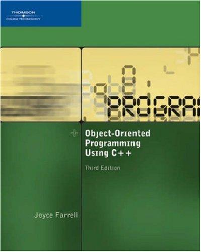 Object-Oriented Programming Using C++,