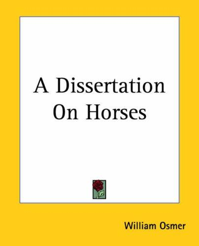 Download A Dissertation On Horses