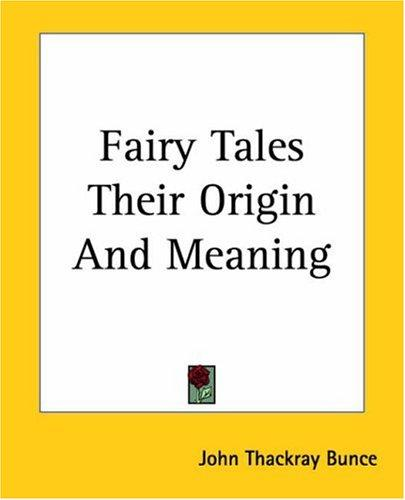 Download Fairy Tales Their Origin And Meaning