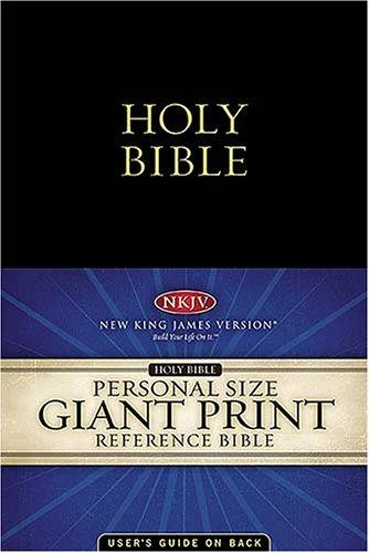 NKJV, Reference Bible, Personal Size, Giant Print (11pt), Imitation Leather, Black, Full Color, Nelson, Thomas