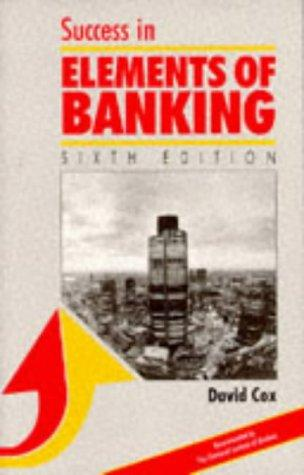 Download Success in Elements of Banking (Success Studybooks)