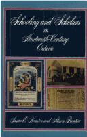 Download Schooling and scholars in nineteenth-century Ontario