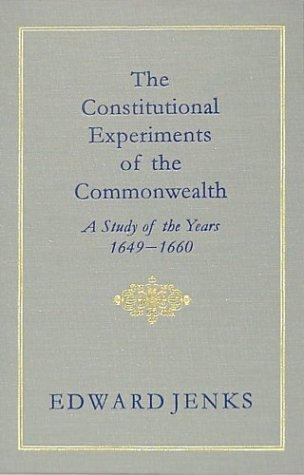 Download The Constitutional Experiments of the Commonwealth