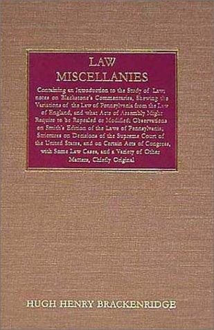 Download Law Miscellanies