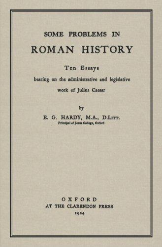 Some Problems in Roman History