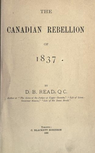 Download The Canadian rebellion of 1837