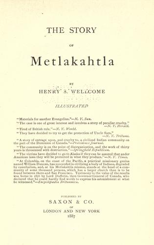 Download The story of Metlakahtla