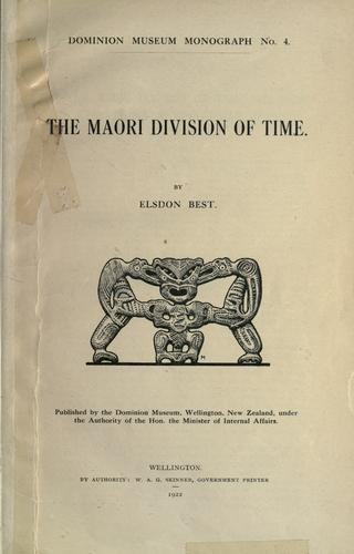 The Maori division of time