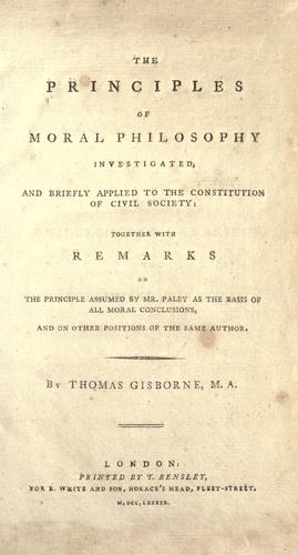 Download The principles of moral philosophy investigated