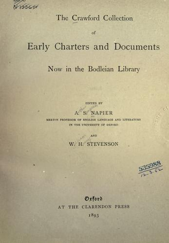 Download The Crawford collection of early charters and documents now in the Bodleian library.