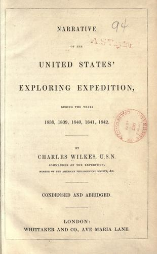 Download Narrative of the United States' exploring expedition