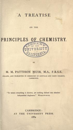 Download A treatise on the principles of chemistry.