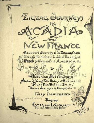 Download Zigzag journeys in Acadia and New France
