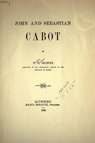 John and Sebastian Cabot.