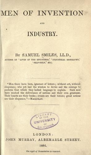 Men of invention and industry.