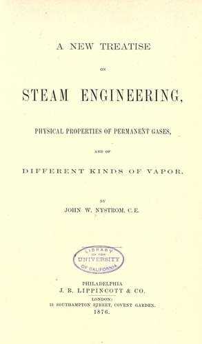 A new treatise on steam engineering, physical properties of permanent gases