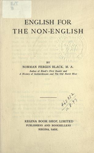 English for the non-English.