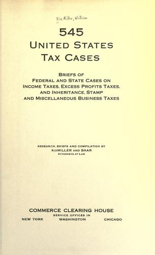 Download 545 United States tax cases