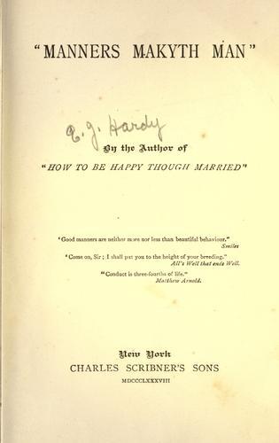 Download Manners makyth man