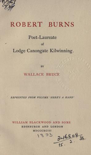 Robert Burns, poet-laureate of Lodge Canongate Kilwinning.